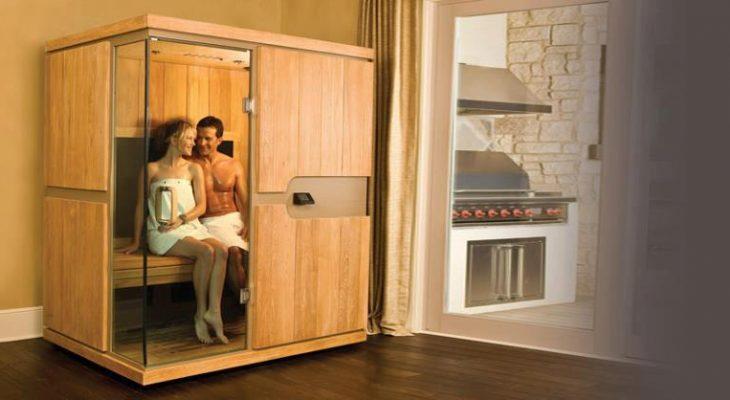 Foto van koppel in sauna