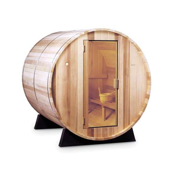 Foto van barrel sauna.